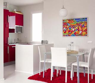 diseño de interiores colores claros y oscuros