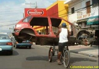 foto chistosa de carro