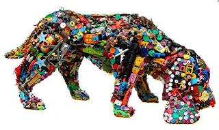 juguete de plastico, arte de plastico