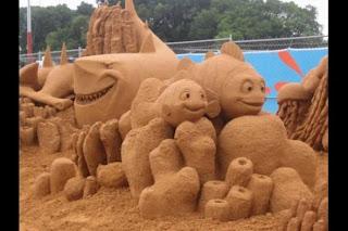 arte en arena, nemo escultura de arena