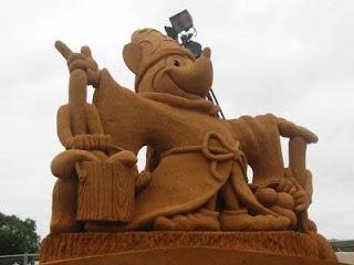 mickey mouse de arena, arte en arena