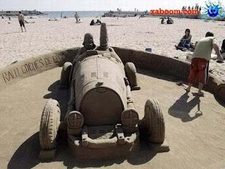 escultura de arena, arte de arena