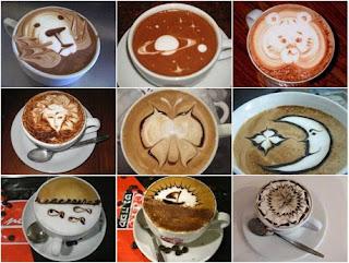 imagen en café, café arte