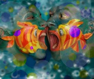 cara pintada de pez