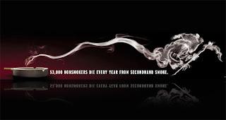 creativo cartel no fumar