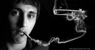 no fumar, retoque digital, campaña
