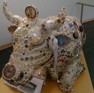 esculturas con desechos plásticos y otros,  el arte de reciclar