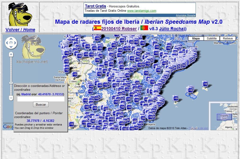 mapa de radares El Blog de kachoperro: Nuevo mapa de radares v2.0 mapa de radares