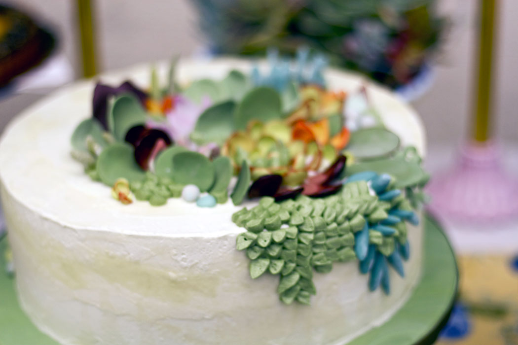 That Wondrous Time  Succulent Wedding Cake Succulent Wedding Cake