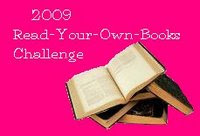 2009 Read Your Own Books Challenge Logo