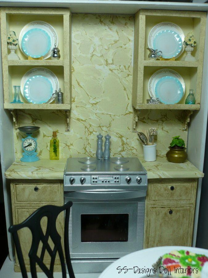 Dollhouse Upper Kitchen Cabinets