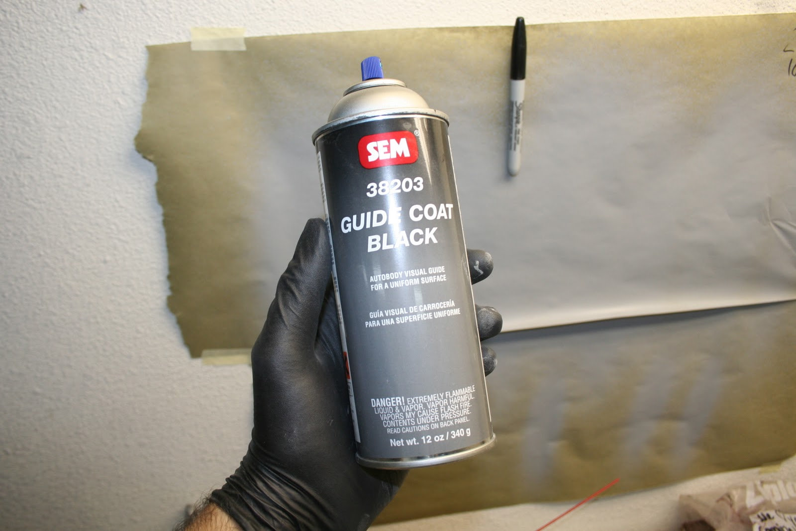 Repainting My 1983 Porsche 944: Guide Coat and Beginning Block Sanding