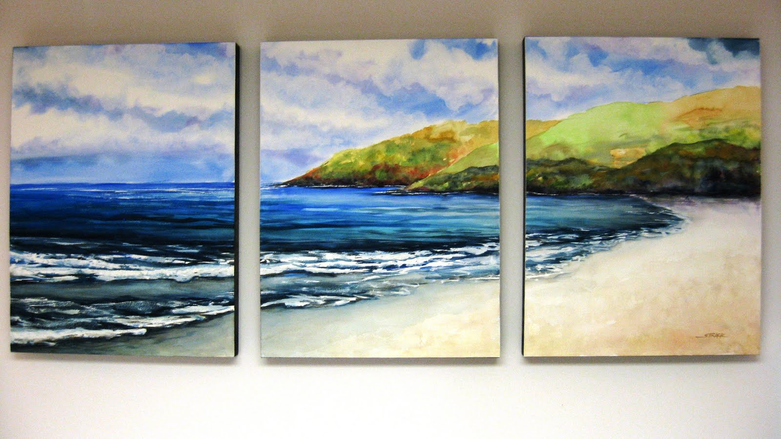 Annie Strack News Mounting A Watercolor Triptych On