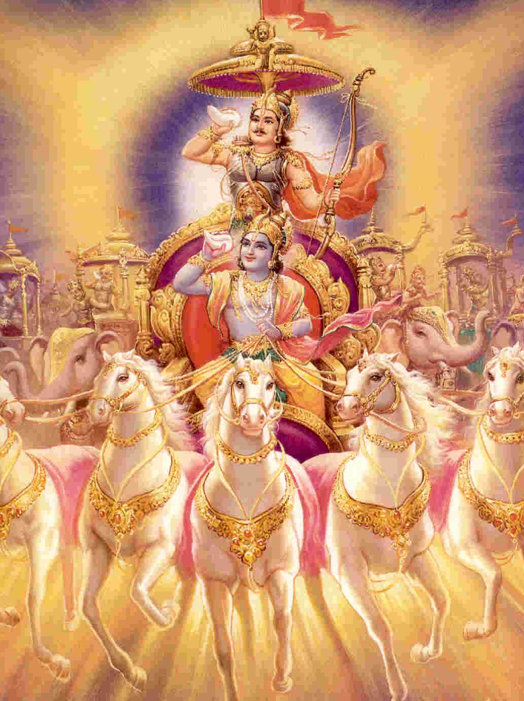 Fantastic Wallpaper Lord Name - God+Arjun+%26+krishna+Photo  Trends_216772.jpg