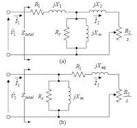 Equivalent circuits of three-phase induction motor