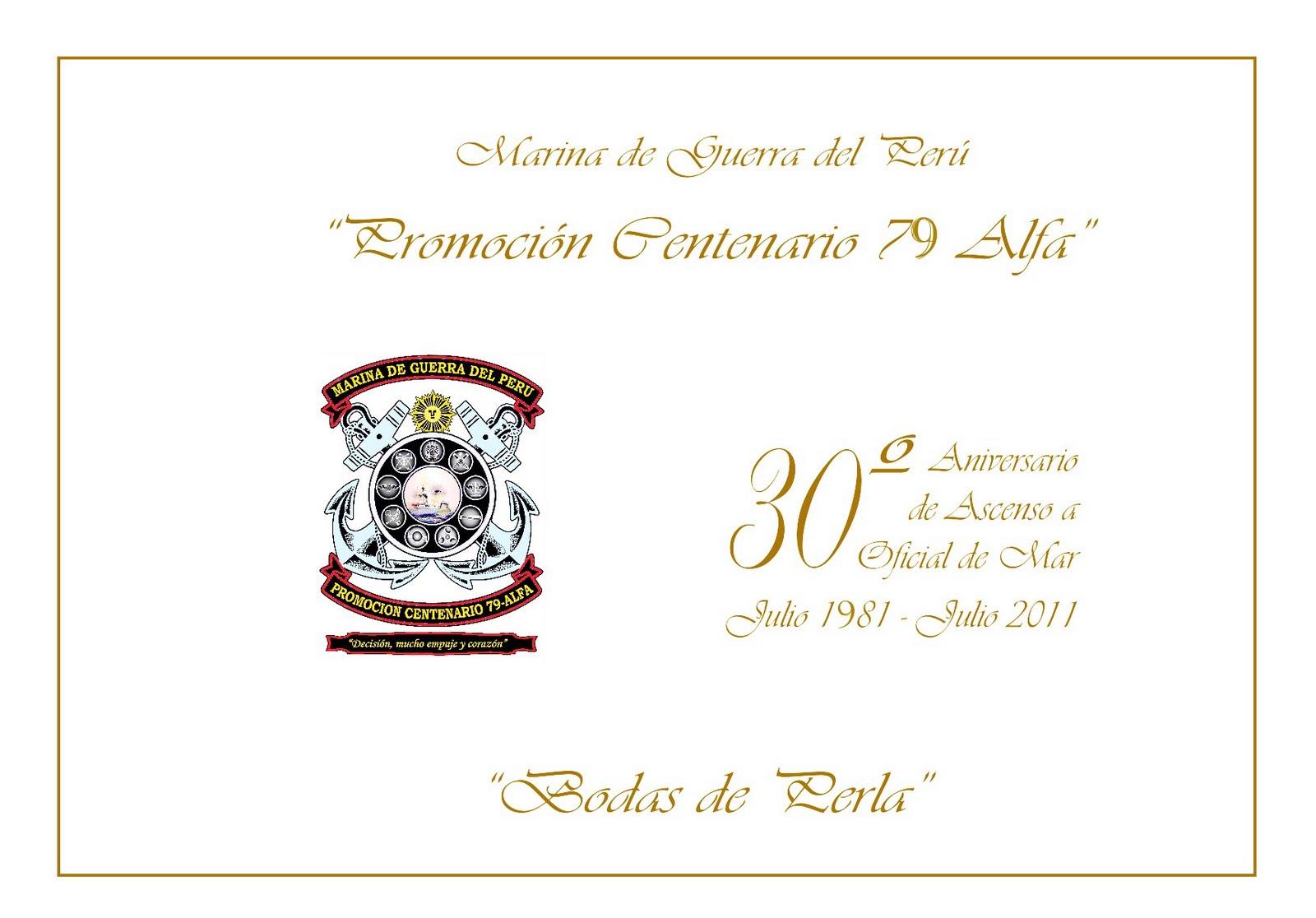 Promoción Centenario 79 Alfa Invitaciones Cena De Gala 79