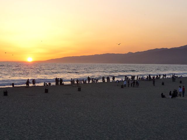 Sunset Santa Monica Beach