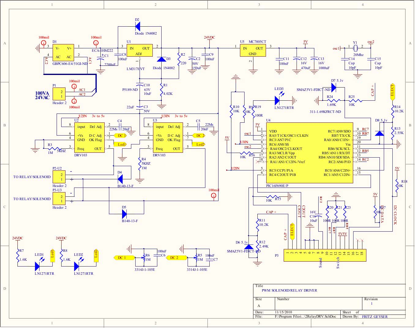 hight resolution of processor controlled pwm relay driver schematic