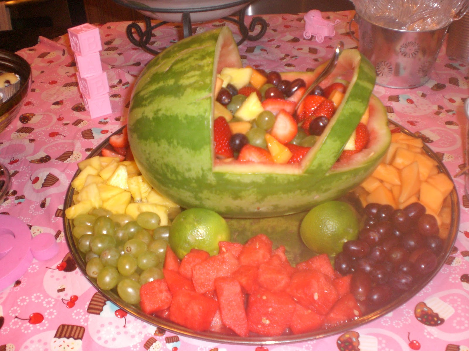 Baby Shower Fruit Platter Ideas Pictures to Pin on ...