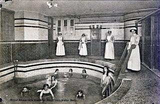 Salt water bath