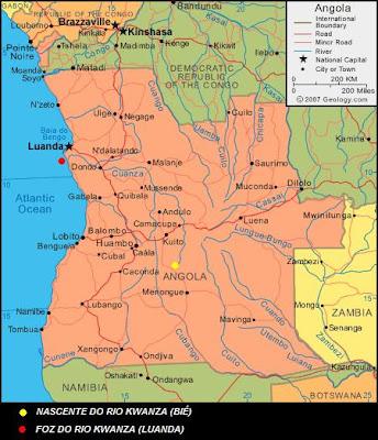 mapa dos rios de angola Pensar e Falar Angola: Rio Kwanza mapa dos rios de angola
