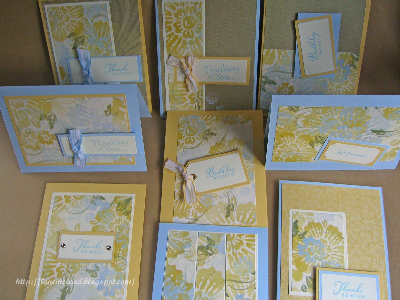 Love to Make Cards: One Sheet Wonder - photo#34