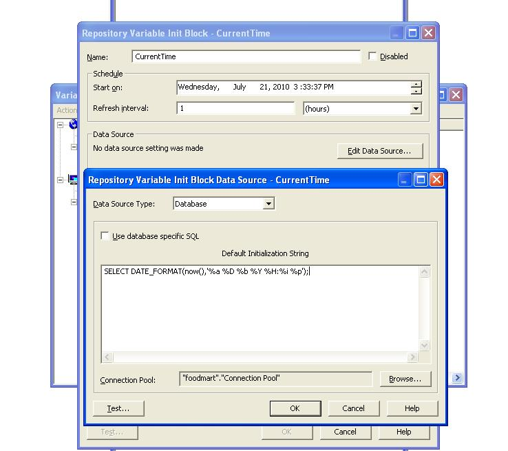 OBIEE – Creating and using dynamic repository variable