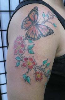 Jersey Tattoo: Monarch Butterfly Tattoo