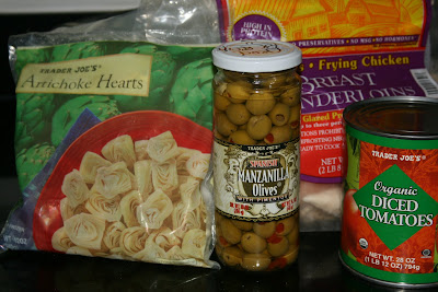 ingredients for mediterranean chicken in crockpot slow cooker