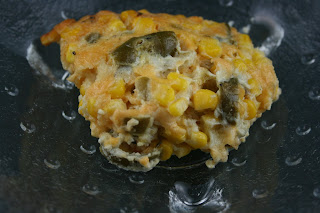 Jalapeño Corn Pudding: this is a great recipe and it's made in your crockpot. It has frozen corn, and cornbread, along with jarred jalapeño peppers. Eat with a spoon.