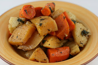 Year of Slow Cooking: CrockPot Roasted Winter Root Vegetables