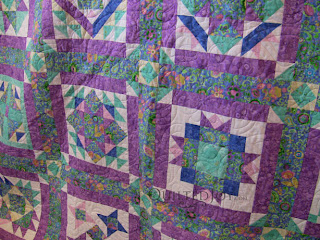 Wendy's Super Saturday quilt, with edge to edge quilting by Angela Huffman - QuiltedJoy.com