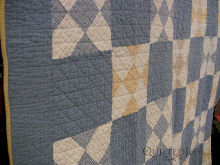 Marietta's Blues antique quilt - QuiltedJoy.com