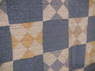 Marietta's Blues antique quilt - QuiltedJoy.com