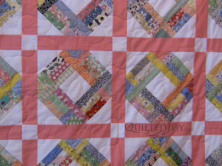 Scrappy 1930s Quilt with quilting by Angela Huffman - QuiltedJoy.com
