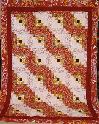 Log Cabin Anniversary Gift Quilt - QuiltedJoy.com