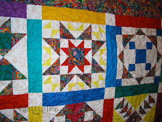 Bright Block of the Month Quilt - QuiltedJoy.com