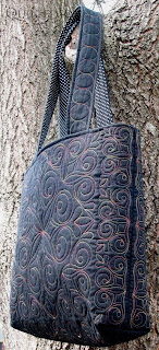 Pre-quilted Tote Bag kits available at the APQS Louisville Store