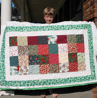 Nick's Christmas Lap Quilt - Entered in KY State Fair, Junior Division
