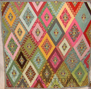 Carol's Strip Quilt, quilted by Angela Huffman