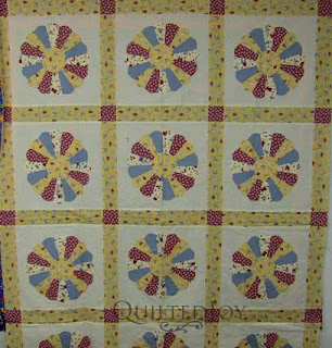 Fay's Dresden Plate quilt, waiting in the wings