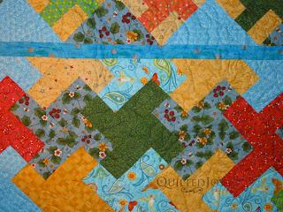 Karen's Hummingbird Garden with hummingbird edge to edge pantograph - QuiltedJoy.com