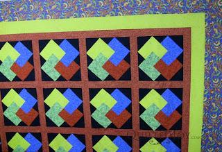 Nonnie's Card Trick Motif in jewel tones