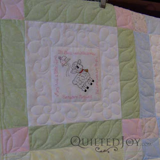 Nursery Rhyme Baby Quilt, quilted by Angela Huffman