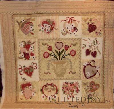 Bettye S Vintage Valentine Block Of The Month Quilt