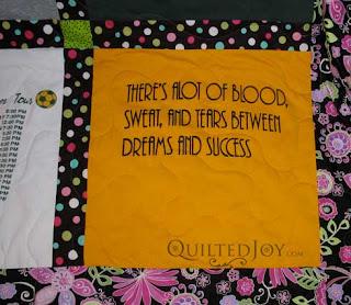 Graduation Gift T-Shirt quilt, by Angela Huffman