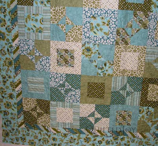 Blue Green Paisley Lap Quilt, quilted by Angela Huffman