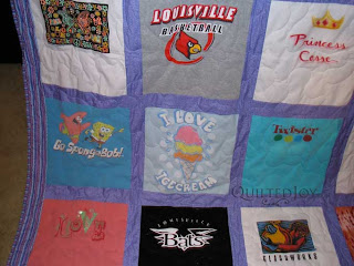 Another Tshirt Quilt from Jennifer! Quilted by Angela Huffman