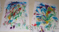 Shaving cream fun with the Kidlets and friends! - QuiltedJoy.com