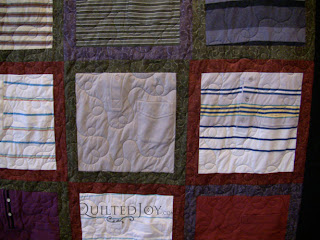 Memorial T-Shirt for a Beloved Father, quilted by Angela Huffman - QuiltedJoy.com